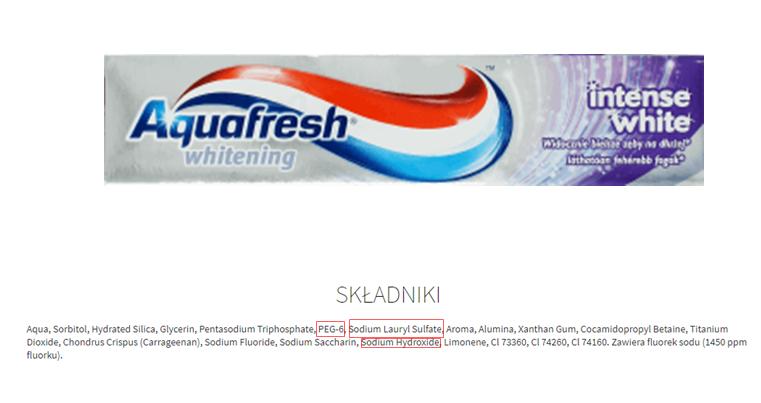 Czy znasz skład swojej pasty do zębów? Lista 101 naturalnych past i past drogeryjnych z przystępnym składem