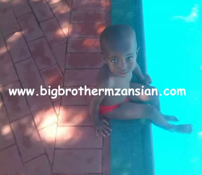 Ntombi And Ace Son Skhokho First Day Of Swimming