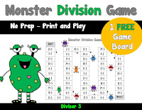 FREE Division Game board to practice 3s