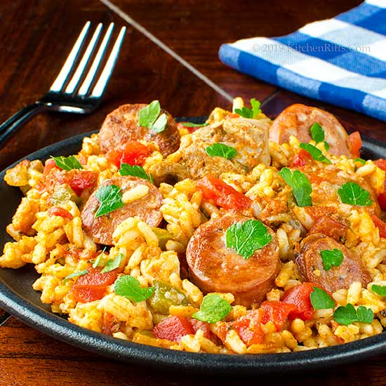 Chicken and Andouille Sausage Jambalaya