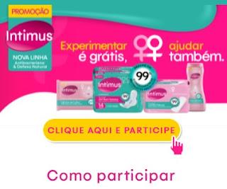 Cadastrar Promoção Novo Intimus Experimente Grátis Antibacteriana e Defesa Natural
