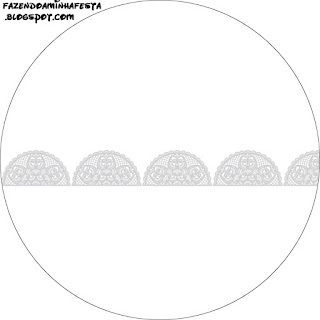 Silver Lace Toppers or Free Printable Candy Bar Labels.