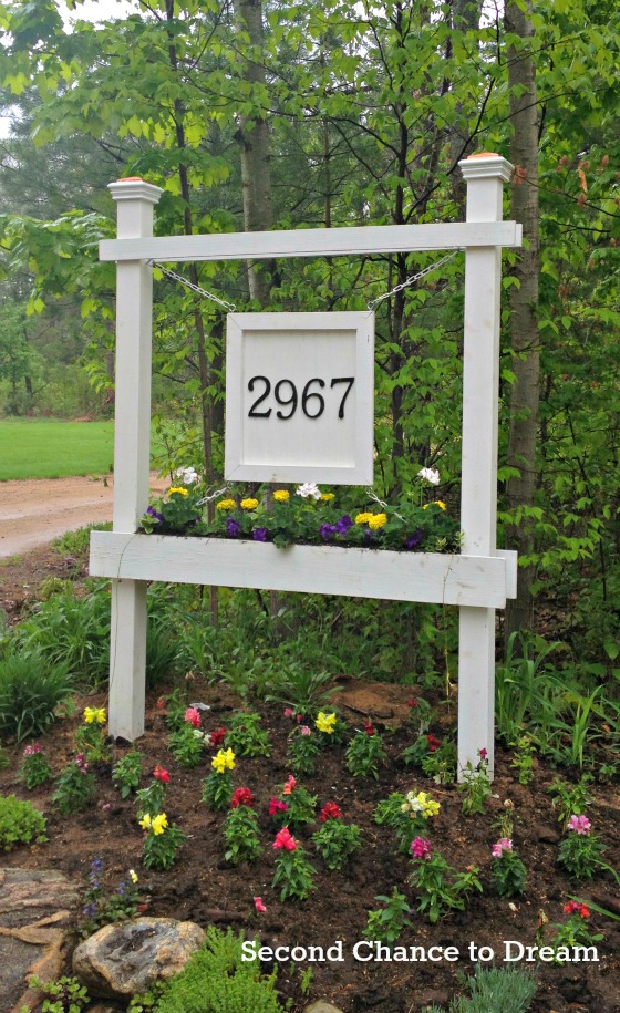 Diy House Number Sign Tutorial Second Chance To Dream
