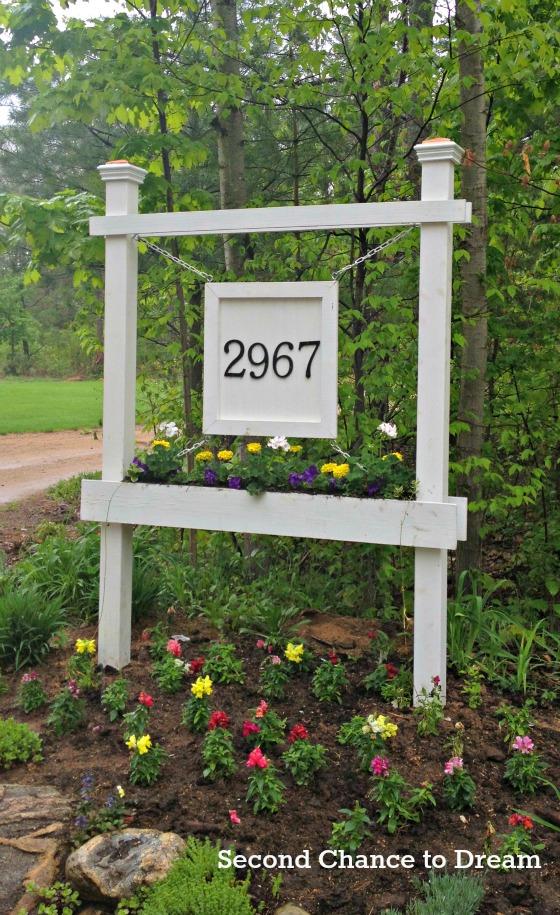 house number entrance sign board