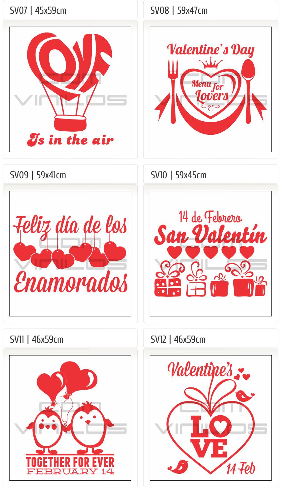 cdm-vinilos San Valentin, vinilos decorativos