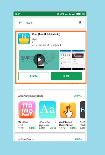 Install Aplikasi iFont di HP Xiaomi