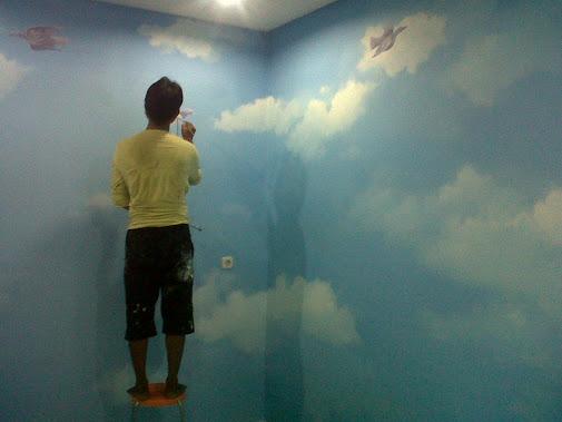 Lukisan Awan di Dinding