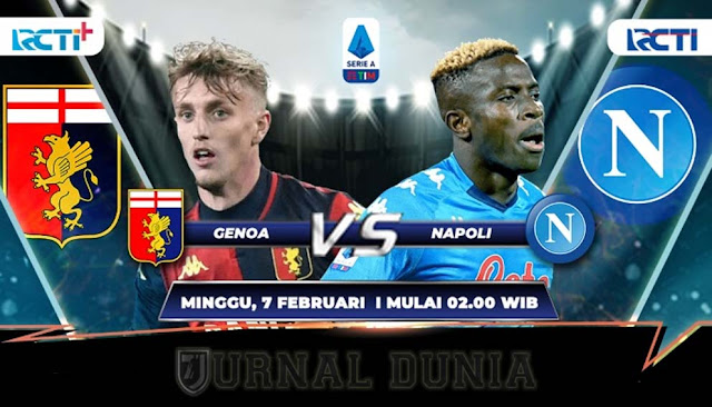 Prediksi Genoa vs Napoli  , Minggu 07 Februari 2021 Pukul 02.45 WIB @RCTI