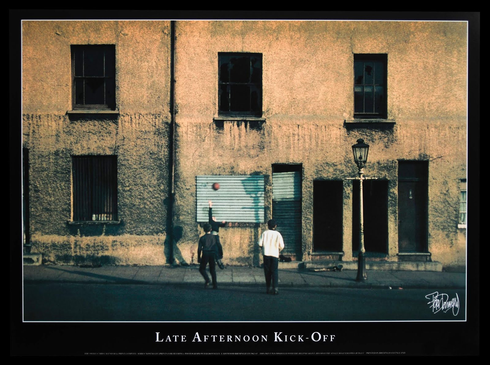 Late Afternoon Kick Off Poster  332mm x 447mm Lithographic Print