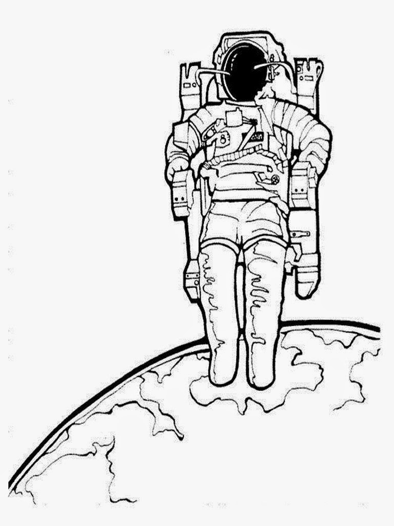 Astronaut Colouring Pages Realistic