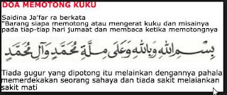 doa memotong kuku dalam islam