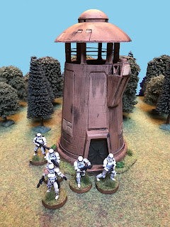 Stormtroopers search the tower