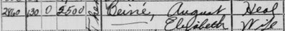 August Beine in the 1940 Census