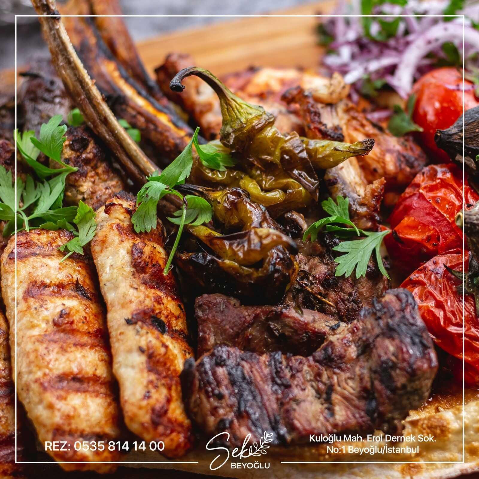 sek beyoğlu restaurant beyoğlu istanbul menü fiyat listesi kebap