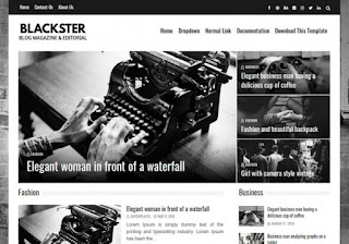 Blackster Blogger Template Free Download