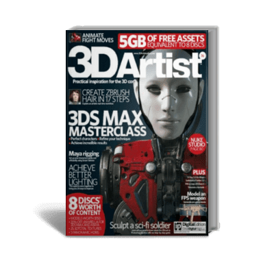 3D Artist – 3DS Max Master Class + Create Zbrush Hair in 17 Steps