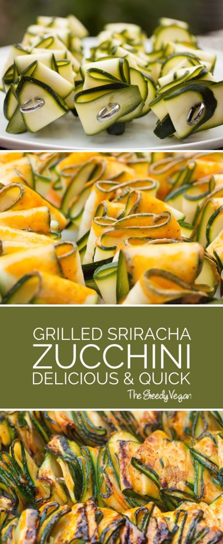 GRILLED ZUCCHINI RIBBONS WITH SRIRACHA MARINADE