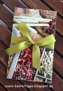 Geschenkgutschein lebensmittel einkauf für einen Koch als Topf in Ziehkarte biomarkt stampin up demonstratorin in coburg