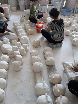 バッチャン焼き陶器職人の工房