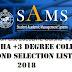 DHE Odisha +3 Degree College Second Selection List 2018 - www.samsodisha.gov.in