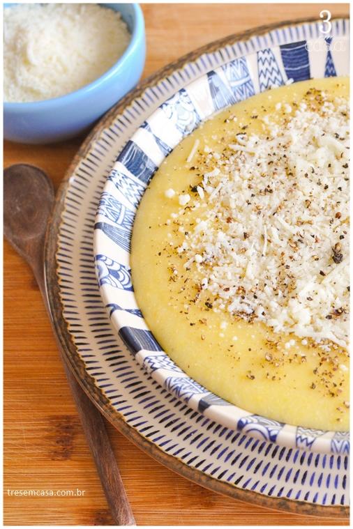 como fazer angu com queijo