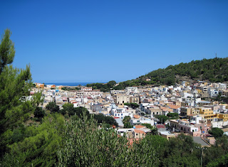 A view over the town of Ustica on the island of the same name