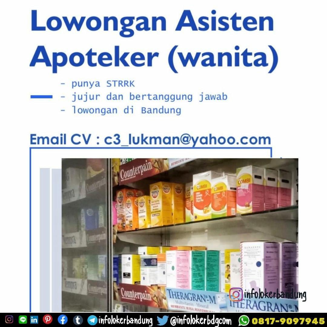 Lowongan Kerja Asisten Apoteker Bandung Februari 2020