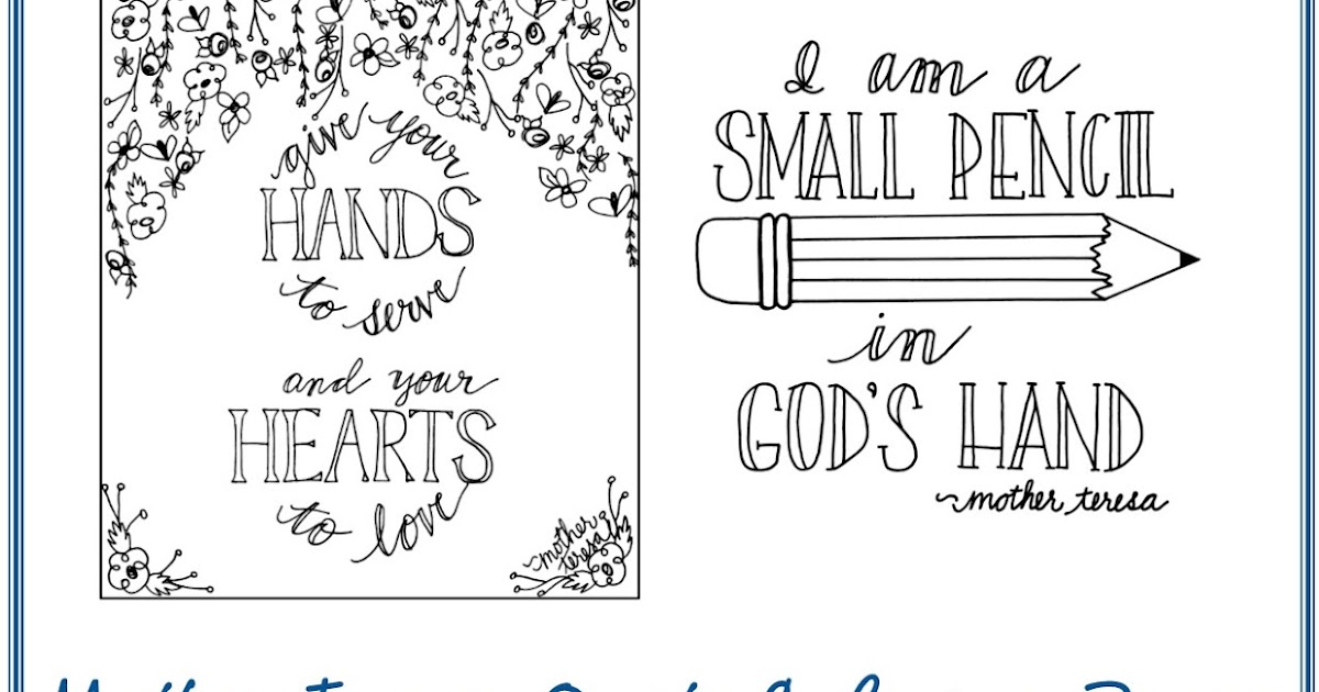 Look To Him And Be Radiant Mother Teresa Quote Coloring Pages