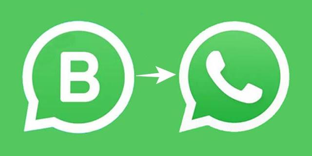 Cambiar de WhatsApp Business a normal sin perder datos