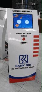 MESIN ANTRIAN BANK MERK TERRAGUNO