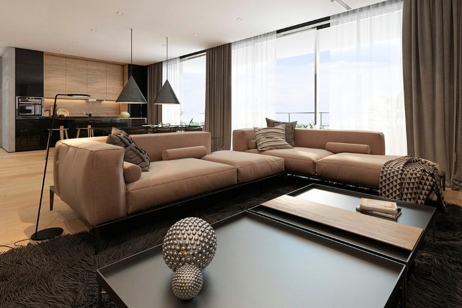 Design interior living casa moderna Galati - Amenajari interioare Galati
