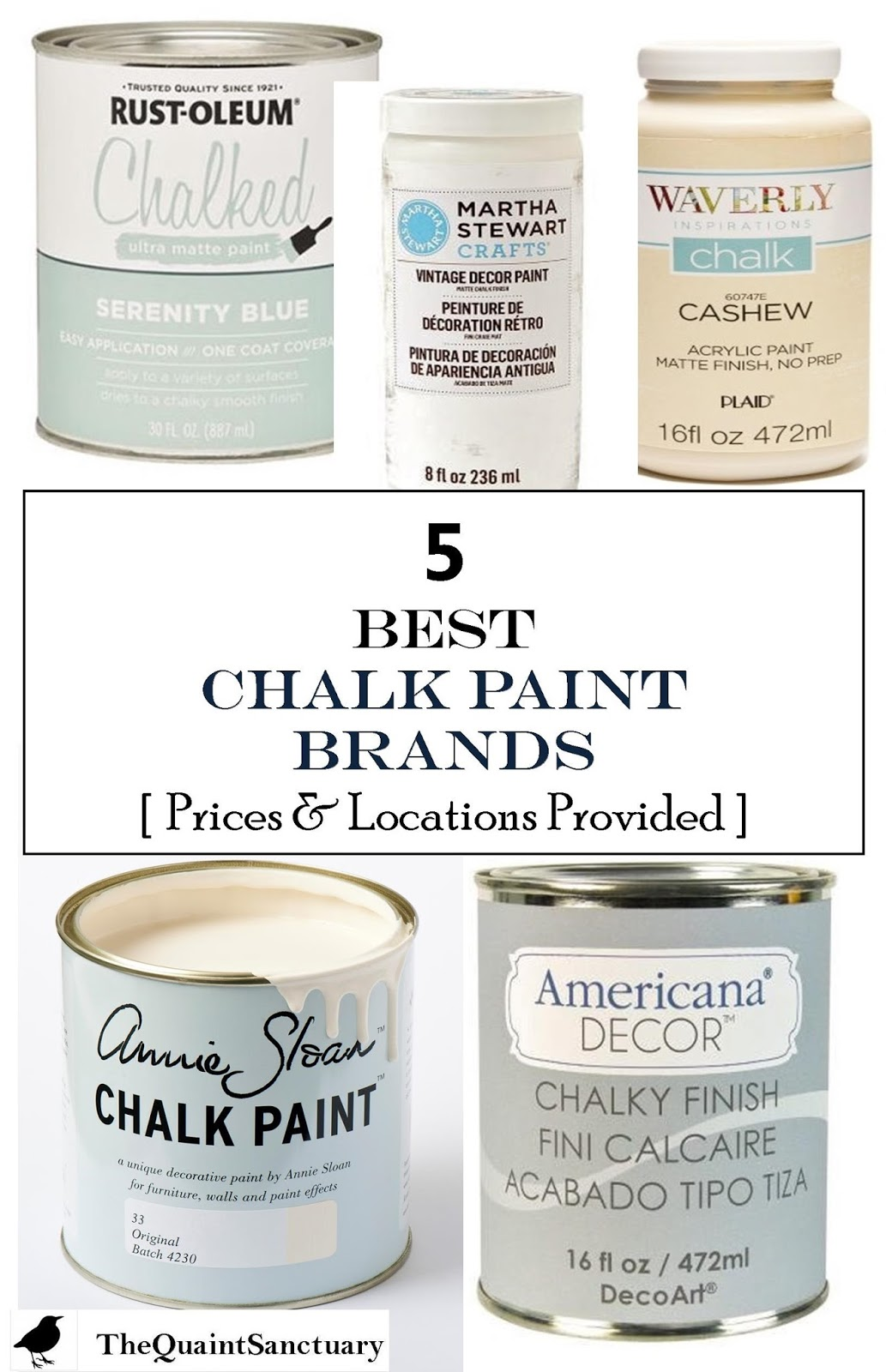 the quaint sanctuary 5 best chalk paint brands with