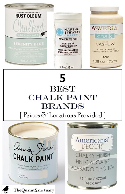 The Quaint Sanctuary 5 Best Chalk Paint Brands With Prices Sources Provided