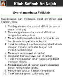 Syarat fatihah kitab safinah