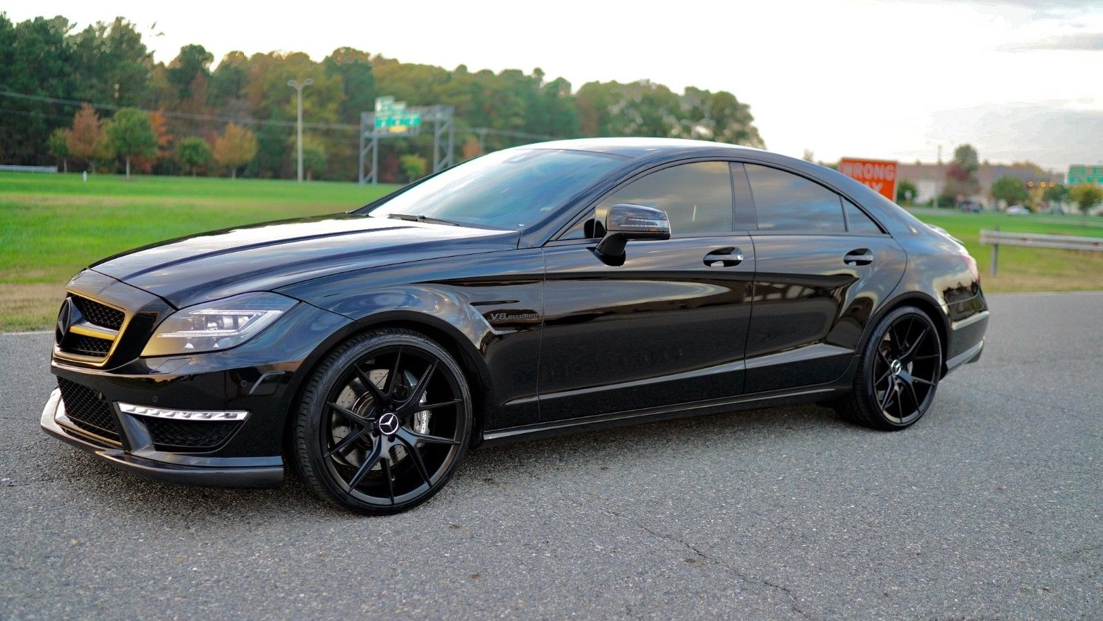 2012 mercedes benz w218 cls63 amg on r22 black wheels for Amg wheels for mercedes benz