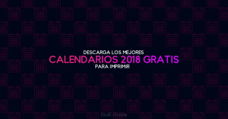 calendario 2018 para imprimir por meses