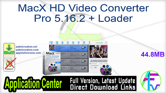 MacX HD Video Converter Pro 5.16.2 + Loader