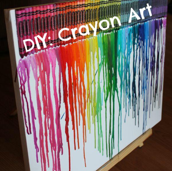 SparkleKnit: DIY: Melted Crayon Art