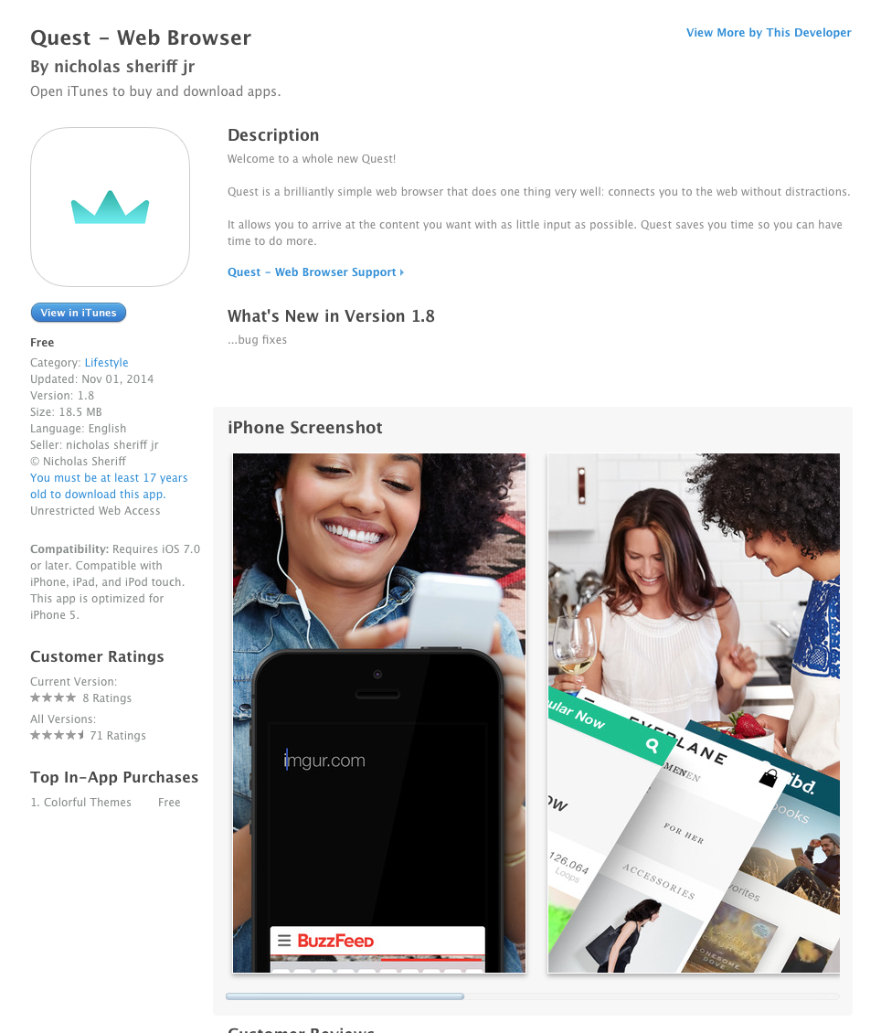 UCET Free iOS App - Quest - Web Browser - UCET