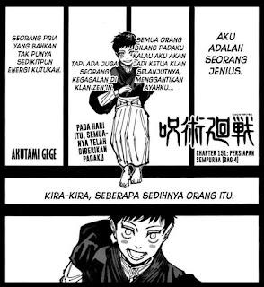 Update! Baca Manga Jujutsu Kaisen Chapter 151 Full Sub Indo