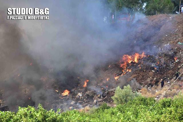 Πυρκαγιά μικρή έκτασης στον λόφο του Παλαμηδίου