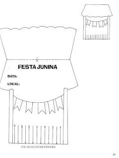 Modelo de convite para festa junina