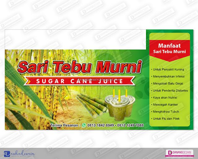 Contoh Desain Spanduk Banner Es Tebu Murn - Contoh Desain ...