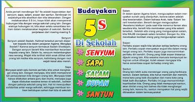 Budayakan 5S Di Sekolah [Senyum, Salam, Sapa, Sopan dan Santun]