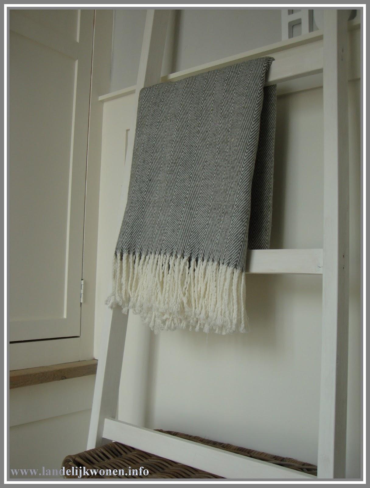 Voorkeur Landelijk Wonen: Interieur idee: Decoratieve Ladder zelf maken &NT54