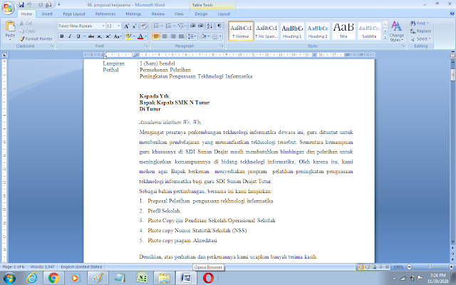 Contoh proposal kerjasama dengan sekolah doc