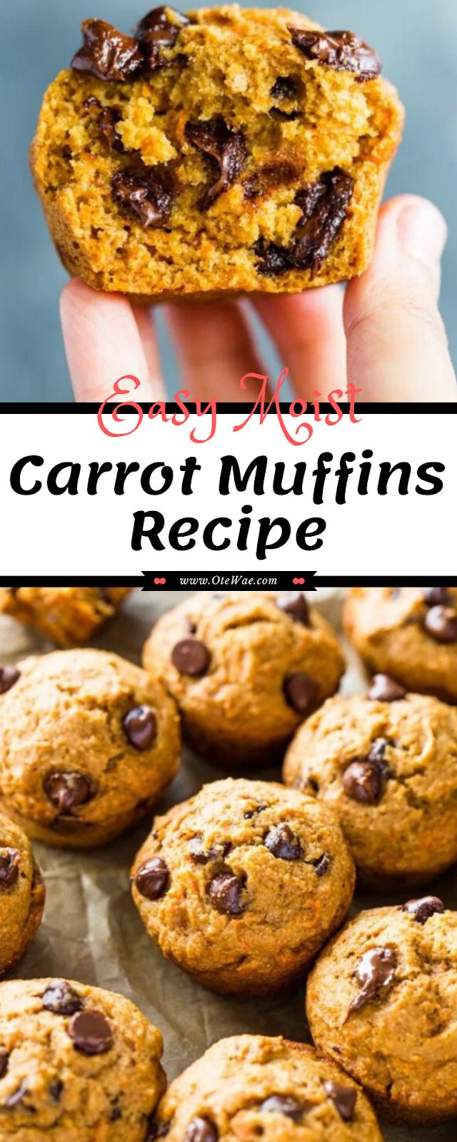 Easy Moist Carrot Muffins