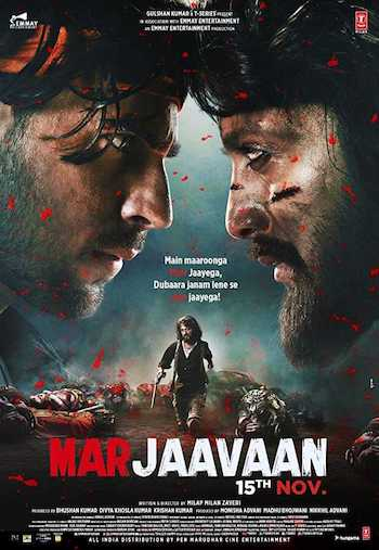 Watch Online Marjaavaan 2019 Hindi 480p pDVDRip 300MB Full Movie Download bolly4ufree.in