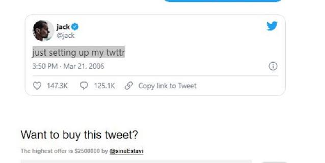 Twit Pertama CEO Twitter Dilelang, Nilai Tawaran Sudah Capai Rp 36 Miliar