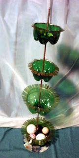 suport verde din plastic